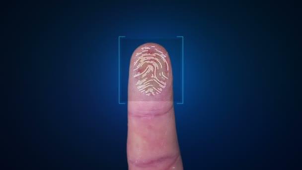 Biometrický snímač analyzuje a schvaluje otisk prstu