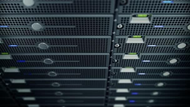 Animation von Rack-Servern im Rechenzentrum
