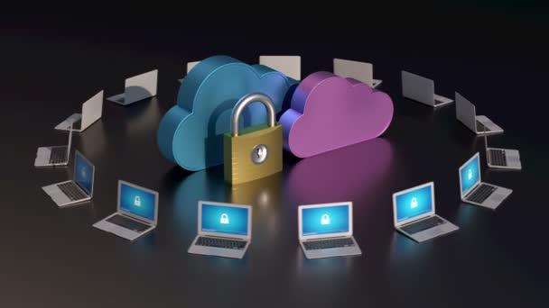 Biztonságos, cloud computing koncepció