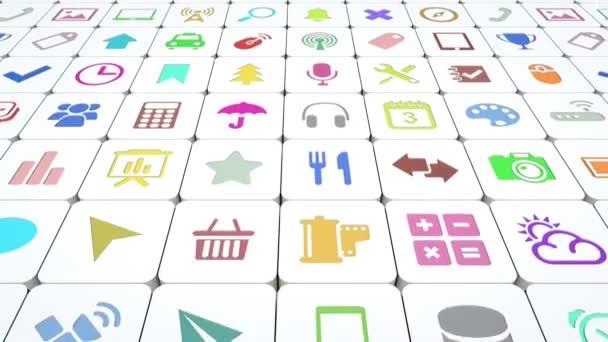 A sok alkalmazás ikonok