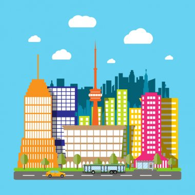 Modern City View. Cityscape
