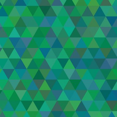 green triangle geometric mosaic card