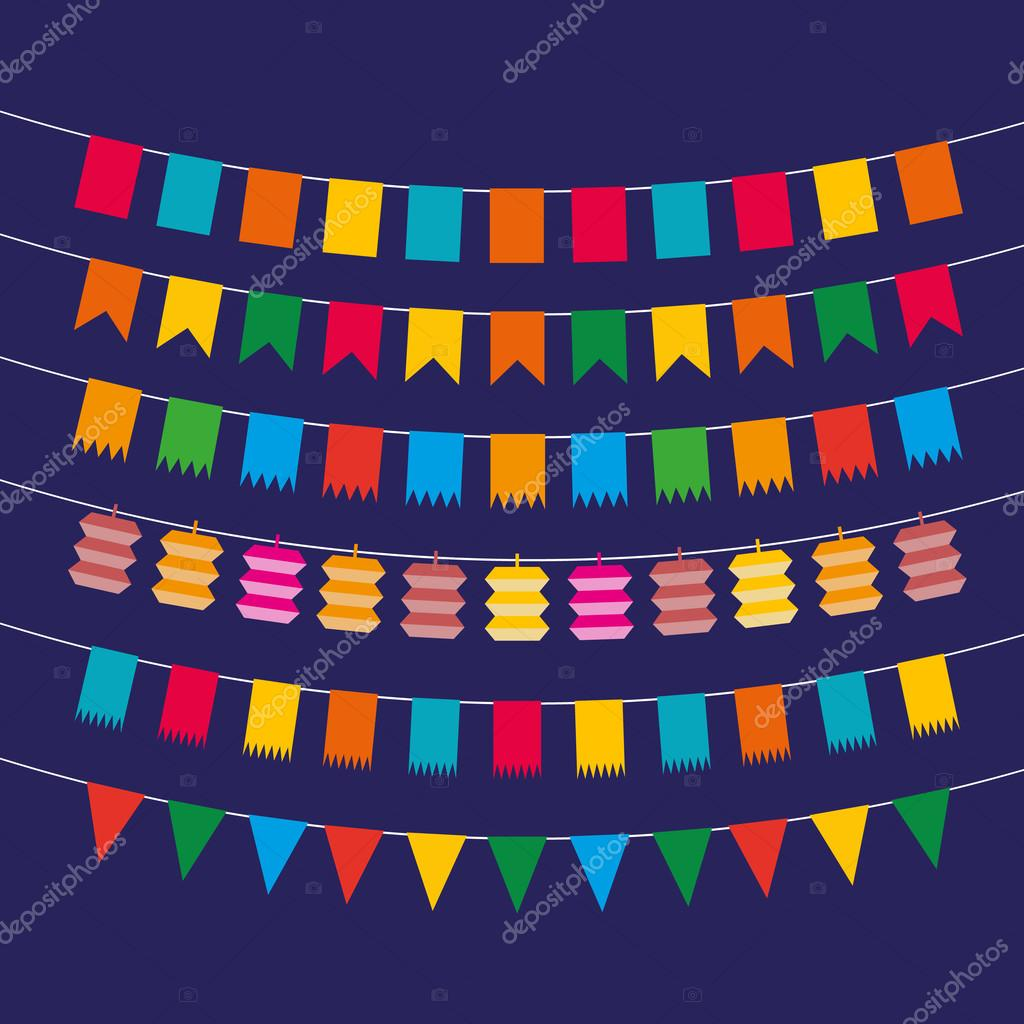 Pennant bunting collection