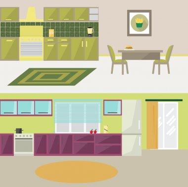 kitchen modern flat design