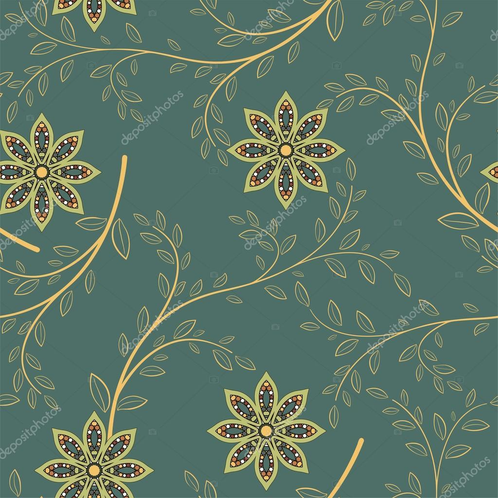 Abstrakte geometrische Blumen nahtlose Muster. Blumen Hintergrund ...