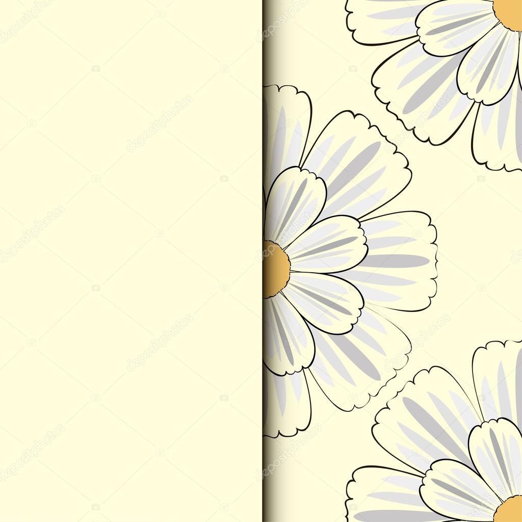 Romantic floral background with  flowers of daisies