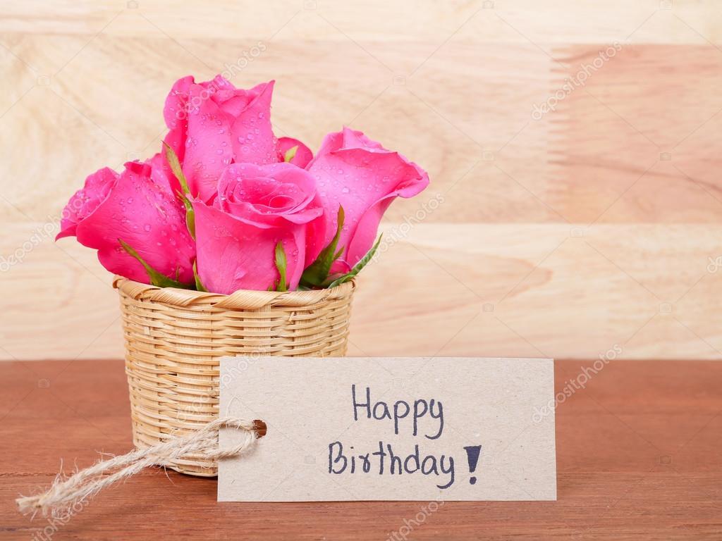 boldog születésnapot virág Kézírás boldog születésnapot barna címke papír 2 — Stock Fotó  boldog születésnapot virág