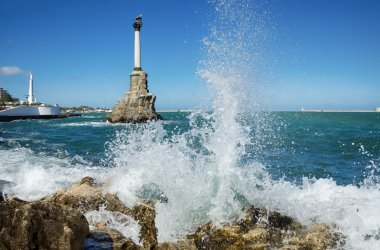 Sevastopol, the Monument to the Scuttled Ships