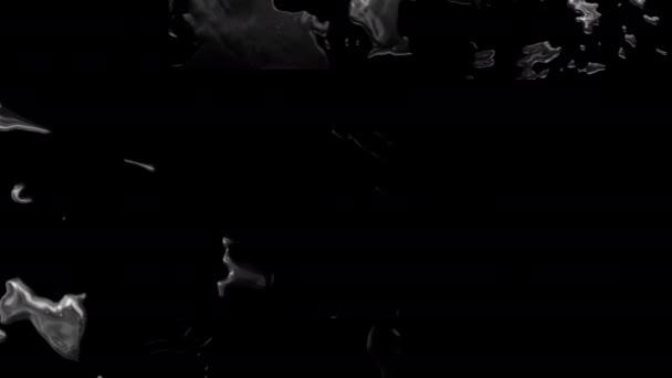 Abstrakter schwarzer zu weißer Grunge Fluid Flow Übergangshintergrund. Visuelle Video-Effekte Footage Ink Transition Turbulente Malerei Schandfleck Ausbreitung. Transition Overlay, Alpha-Matteffekt für die Videobearbeitung.
