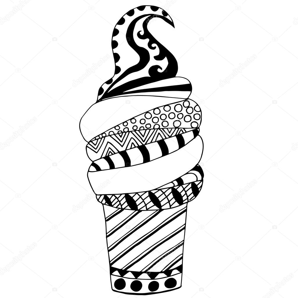 Yüksek Kaliteli Orijinal Dondurma Birçok Unsurlar Ile Boyama Stok