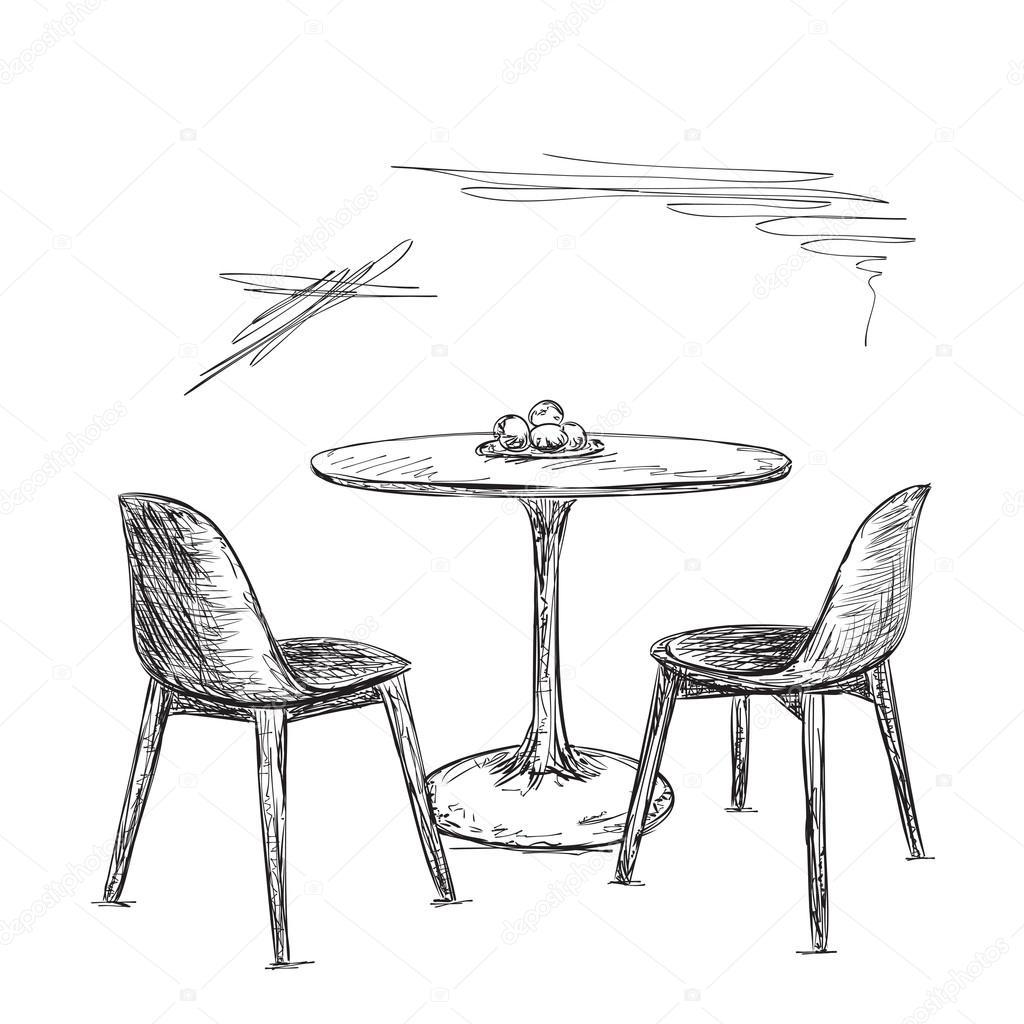 Tisch gezeichnet  Tisch Und Stuhl Gezeichnet | rheumri.com