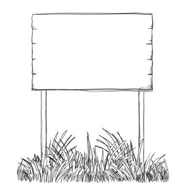 Hand drawn Illustration of a Billboard