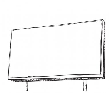 Hand drawn Illustration of a Billboard