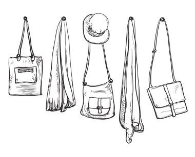 Hand drawn Sketched wardrobe