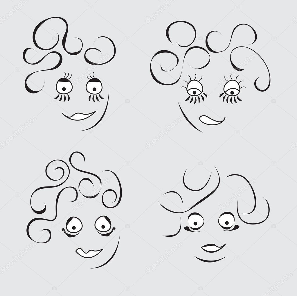 Dibujos Expresiones Caras Conjunto De Expresiones