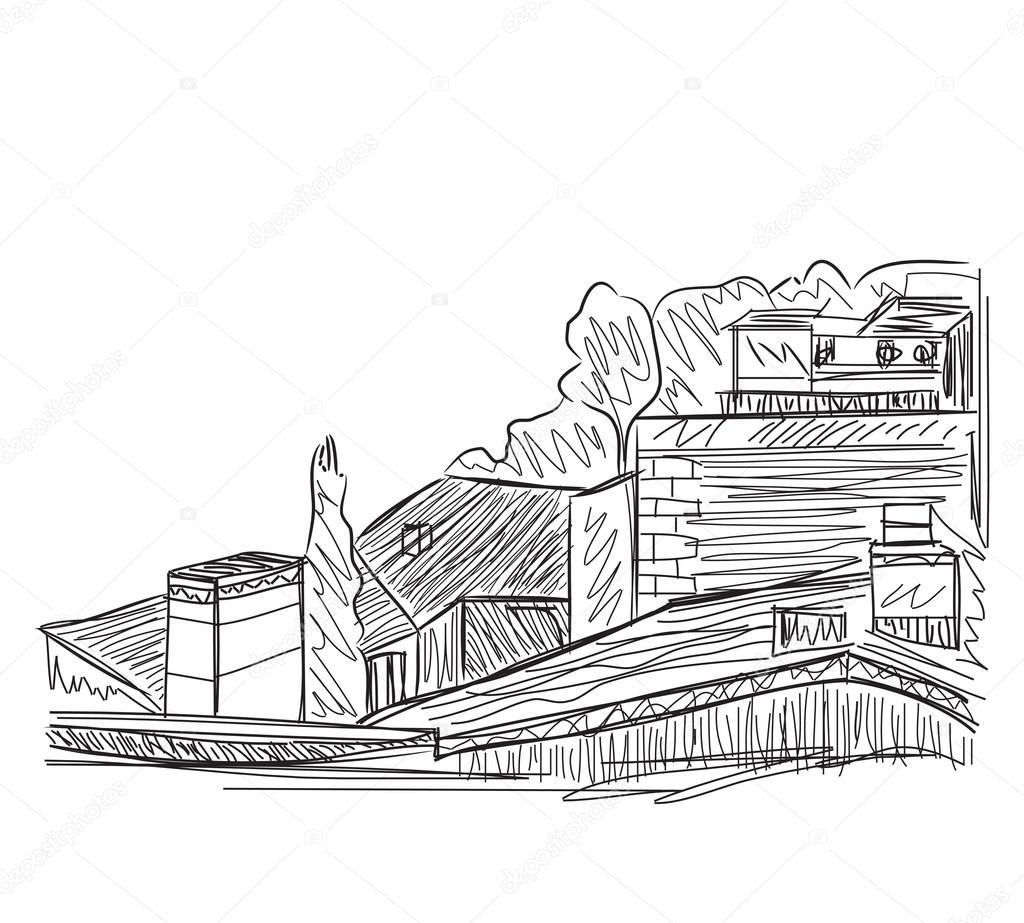 Huizen tekenen awesome plattegrond huis with huizen for Huizen tekenen