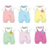 Set of 6 ,baby girl clothes ,Vector illustration
