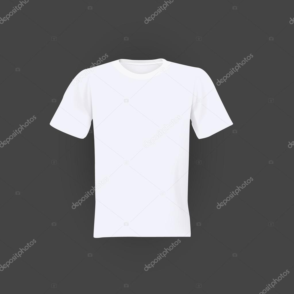 White T Shirt Template Stock Vector Droidworker 102073216