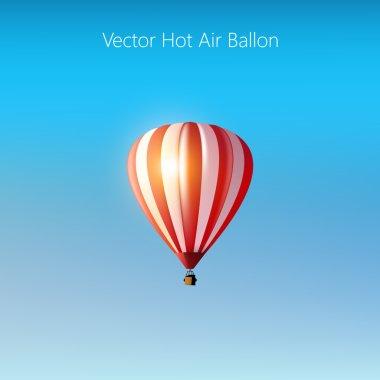 Vector hot air balloon clip art vector