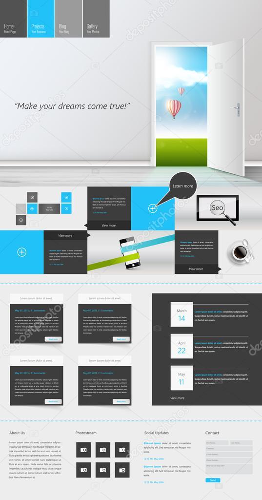 Moderne One Page Website Vorlage kann sein reagierend Website auf ...