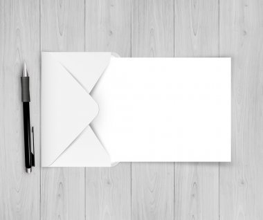 Open White Envelope With Paper With Gradient Mesh, Vector stock vector