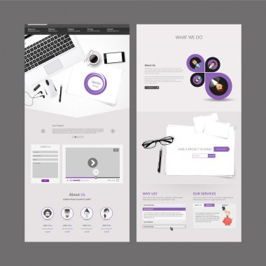 Office Theme Modern Clean One page website design template.