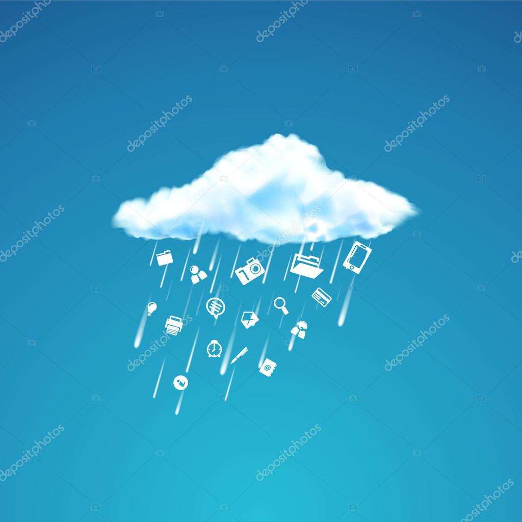 Cloud and icons design. Icon Rain.