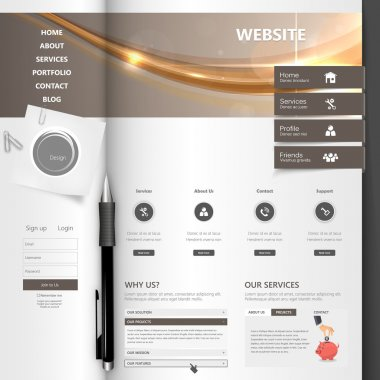 Creative Professional Website Template Design, Open Brochure