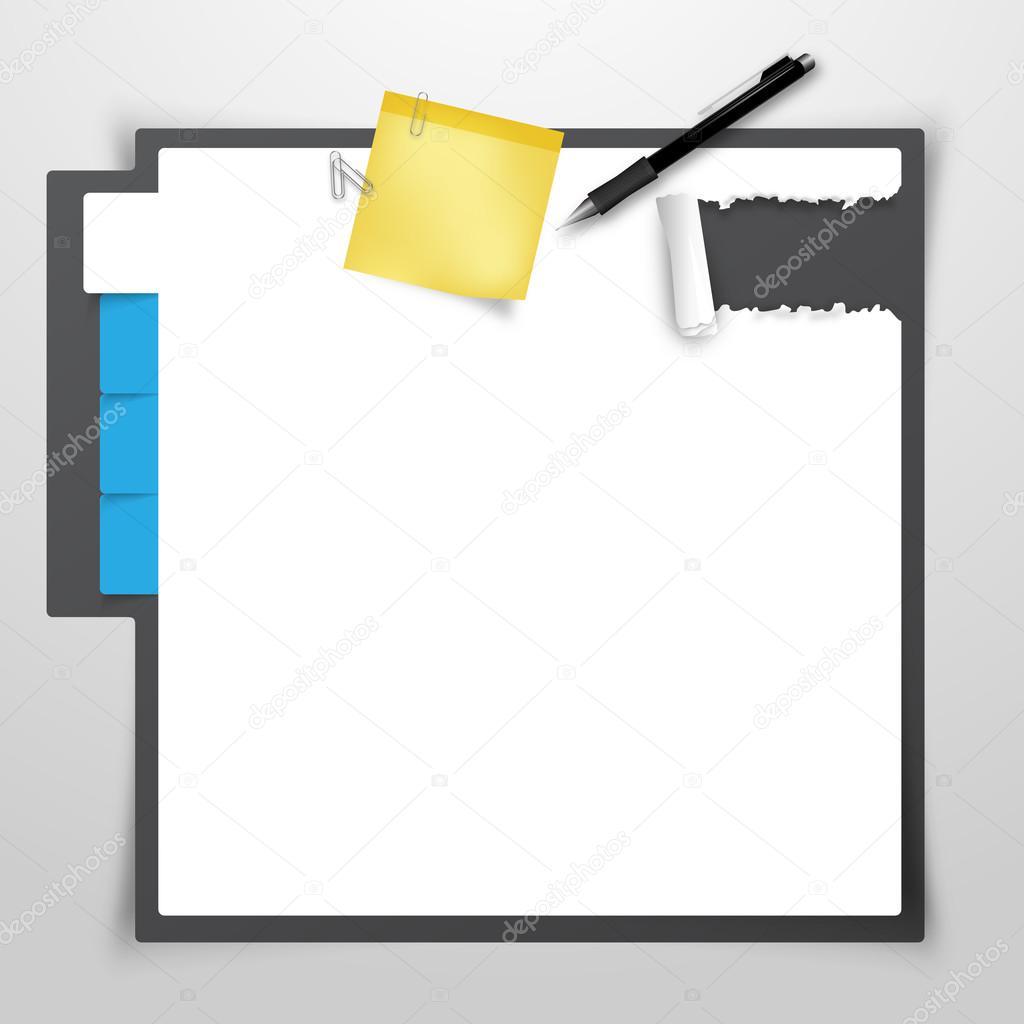創造的なウェブサイト デザイン テンプレート クリップボード および