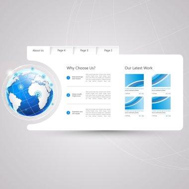 Minimal Website Template Design