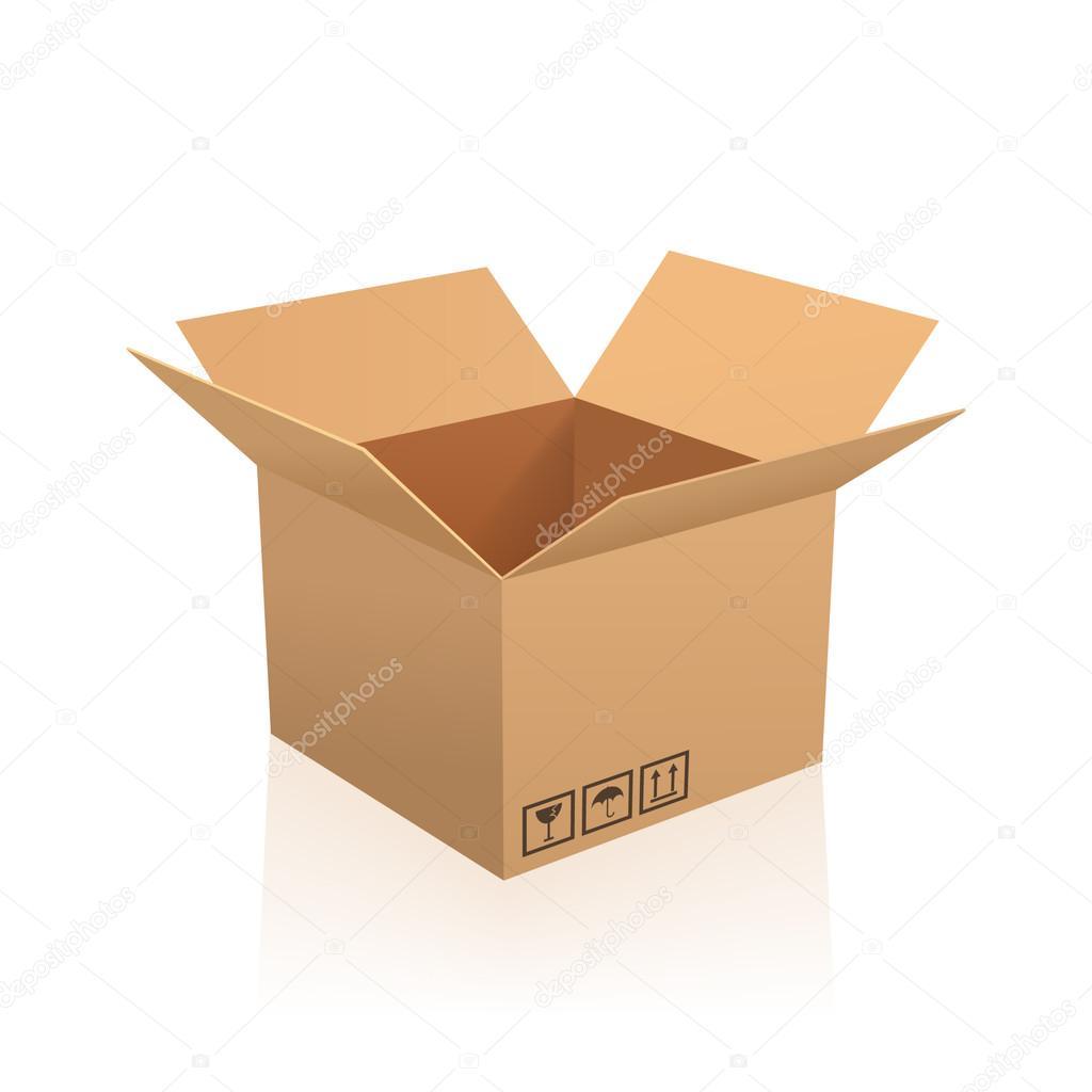 Open box vector illustration.