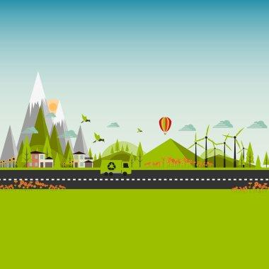 Flat Eco Green City