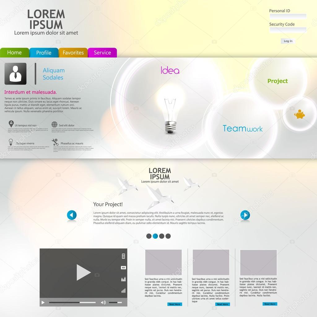Diseño de plantillas web limpio colorido brillante — Vector de stock ...