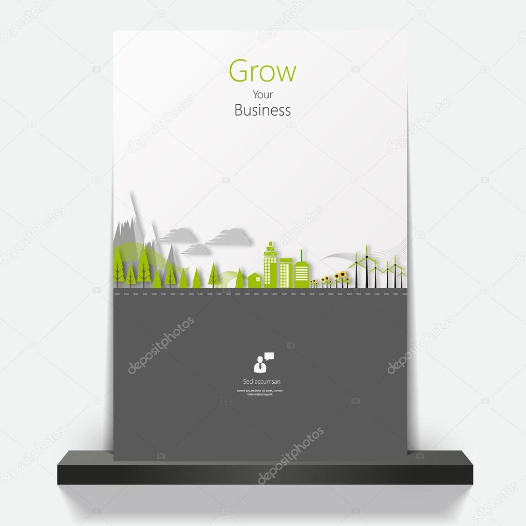 Eco flyer or cover design