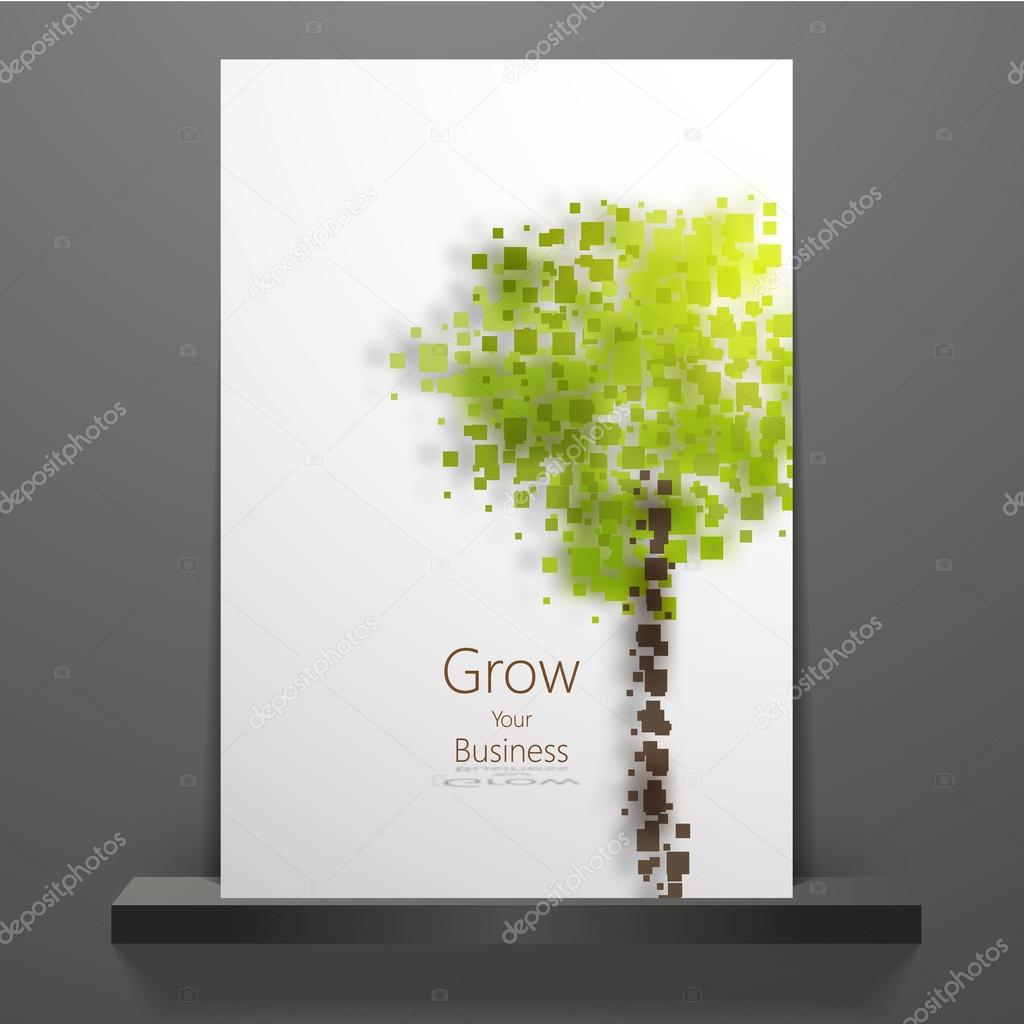 Eco theme flyer template or corporate banner design