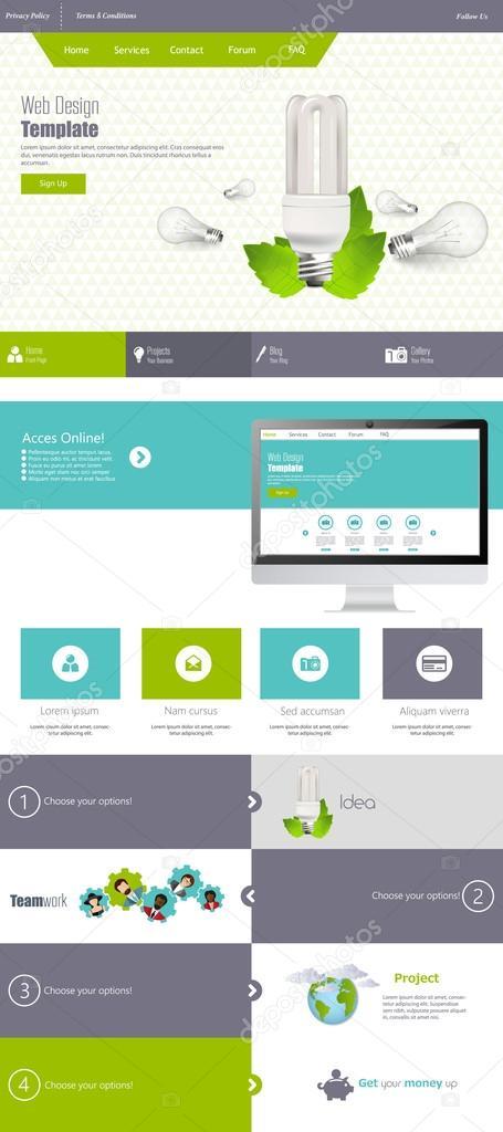 Eco Website Template Design