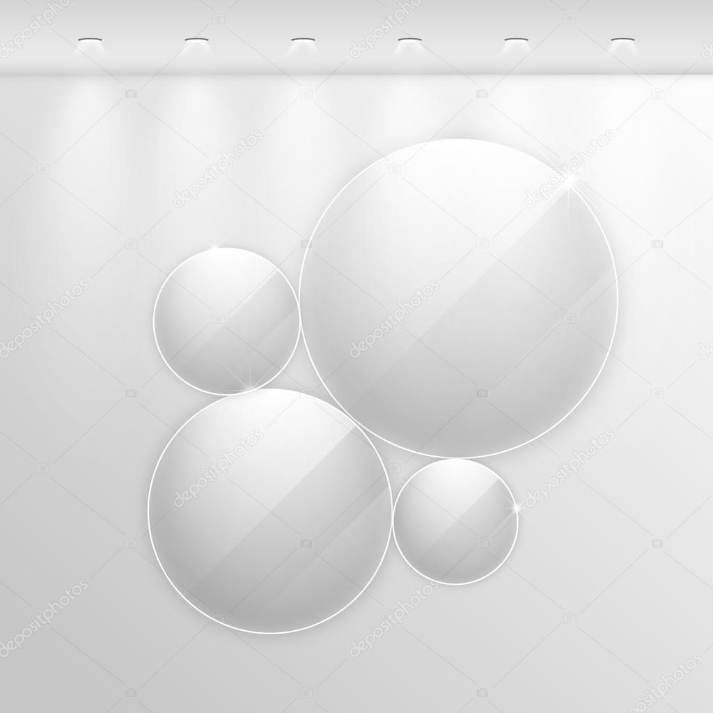 Marcos de vidrio realista elegante — Archivo Imágenes Vectoriales ...