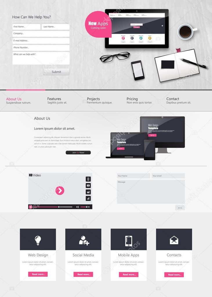 Modello di progettazione sito web vettoriali stock for Sito web design piano piano