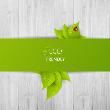 Green eco abstract design