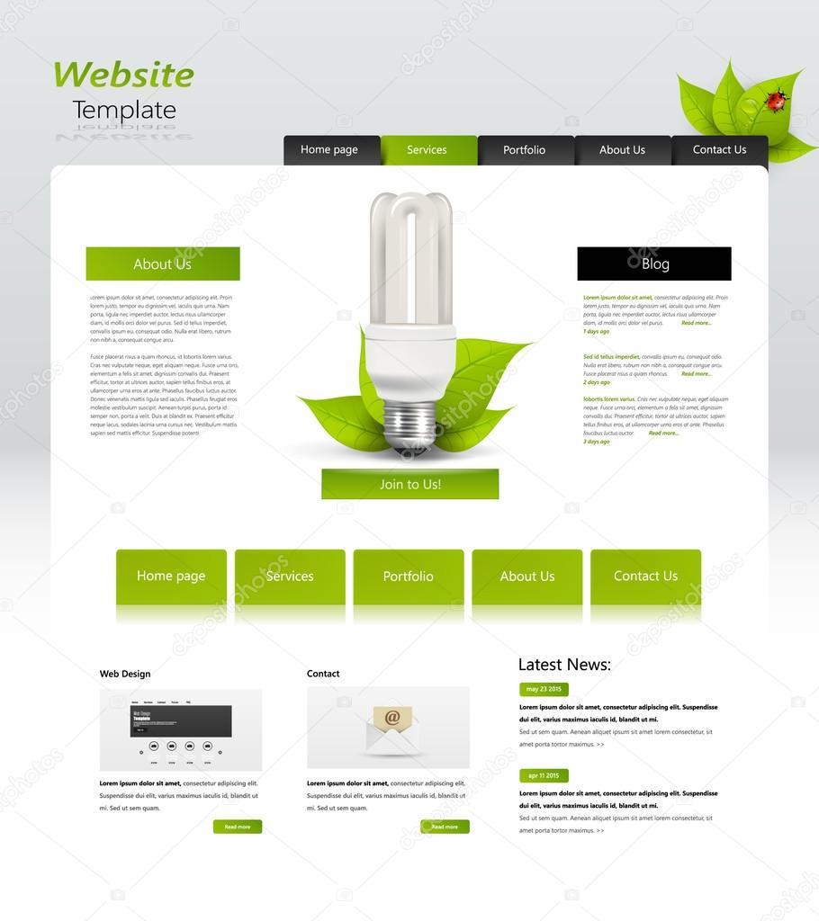 Eco Website Template Design,