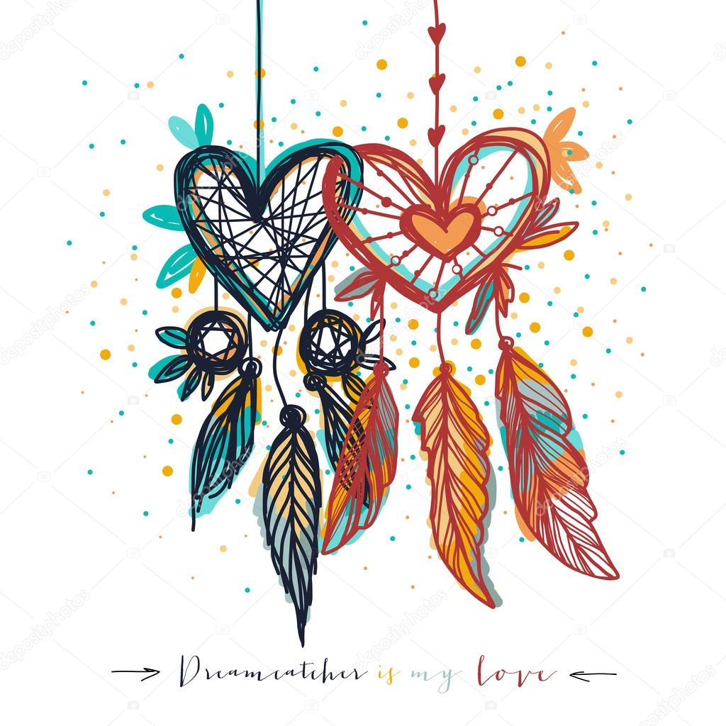 Dream catcher with love