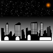 noční město. silueta