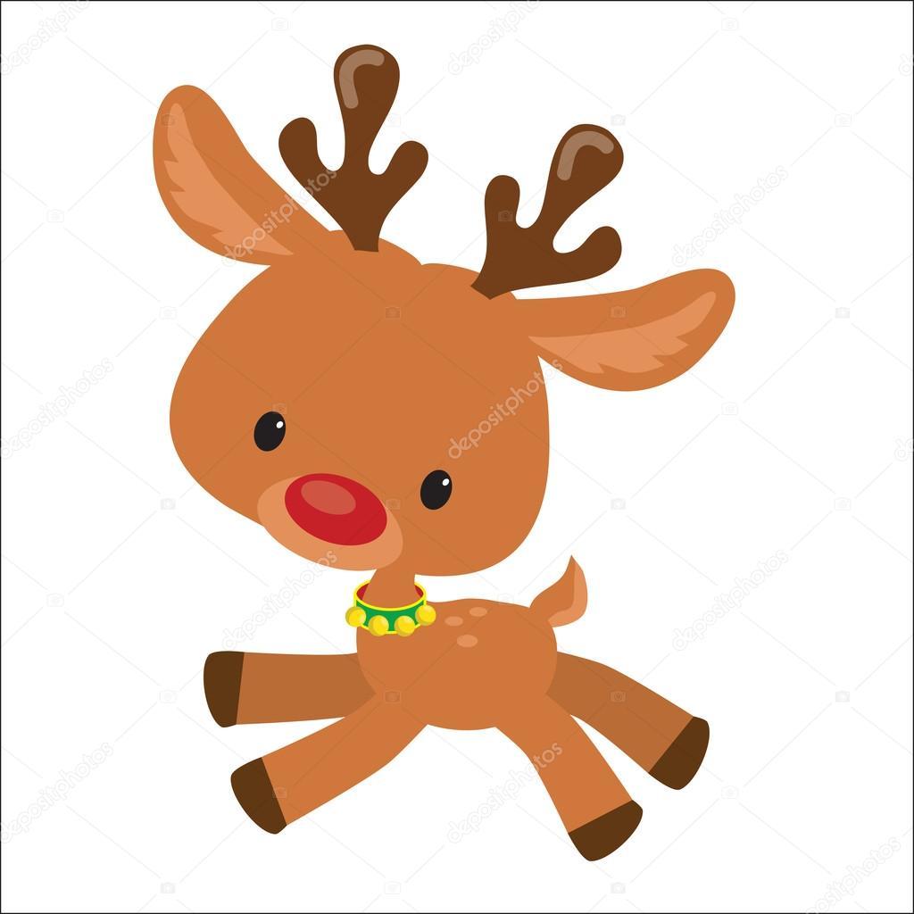 Renos de navidad vector ilustraci n de dibujos animados for Dibujos de renos en navidad