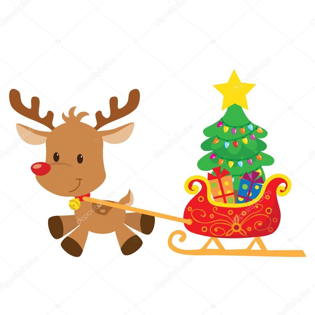 Dibujos de renos de navidad dibujos navidad color for Dibujos de renos en navidad