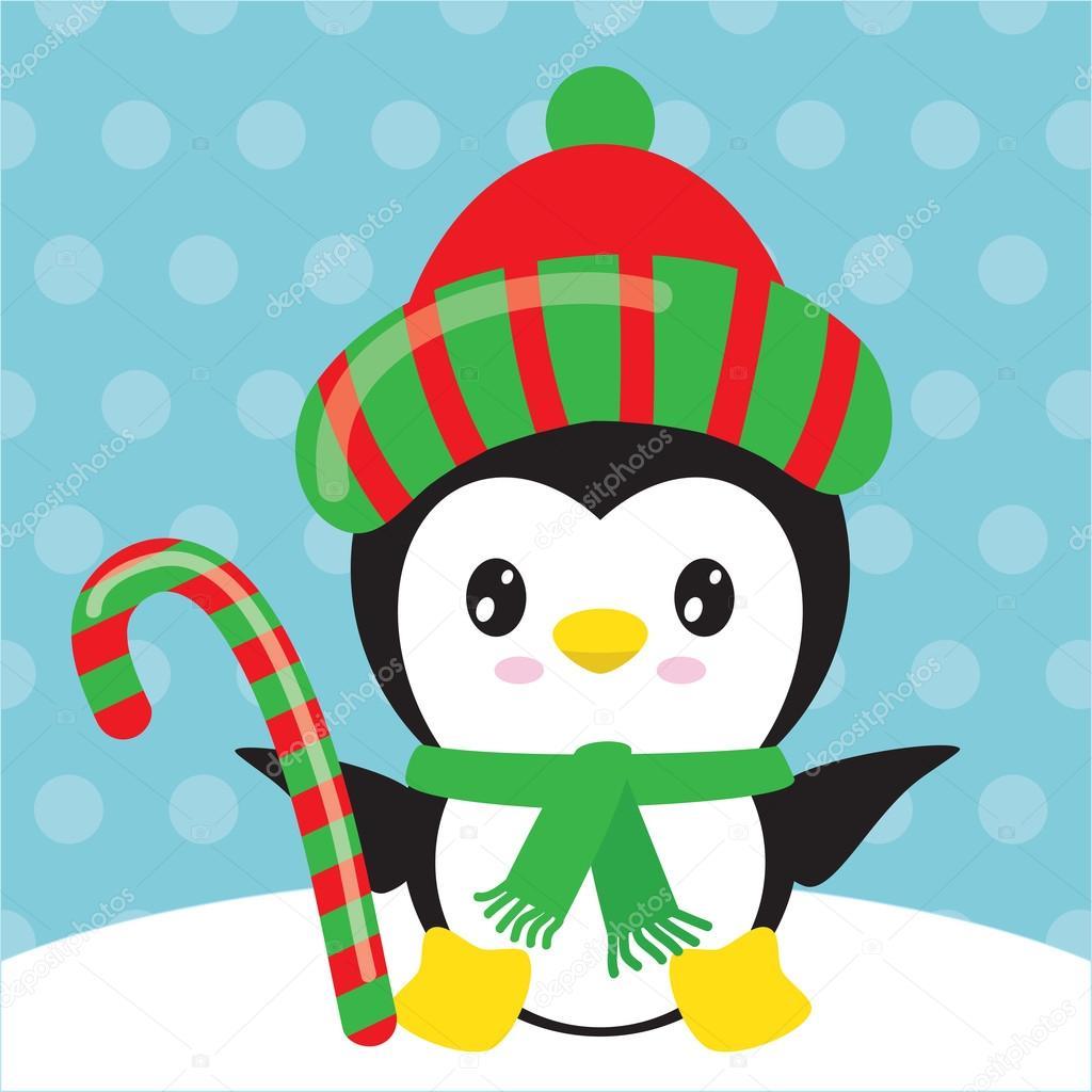 Fotos Pinguino Navidad Ilustración De Vector De Pingüino De