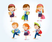 Fotografie cute little kids illustration