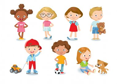 cute kids in simple style