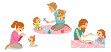 set of baby care