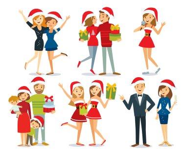 people and Christmas season