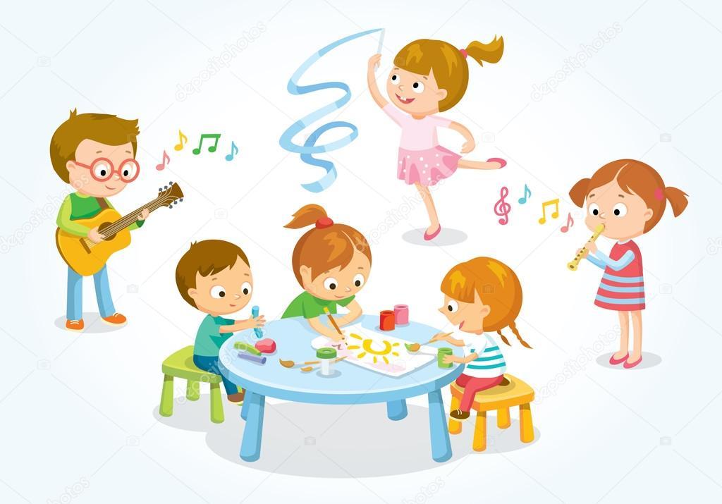 Illustrazione Dei Bambini Creativi Vettoriali Stock Olga1818